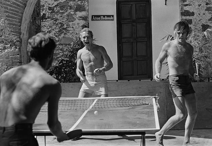 Paul Newmand and Robert Redford. Ping-Pong